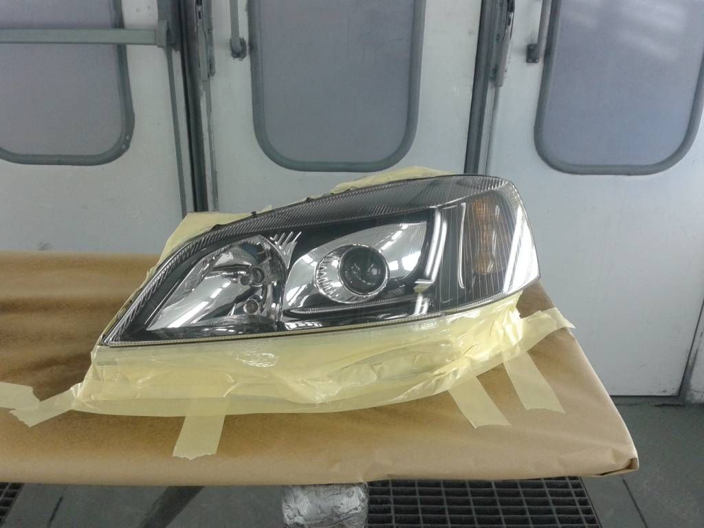 Auto koplampen polijsten stap 5